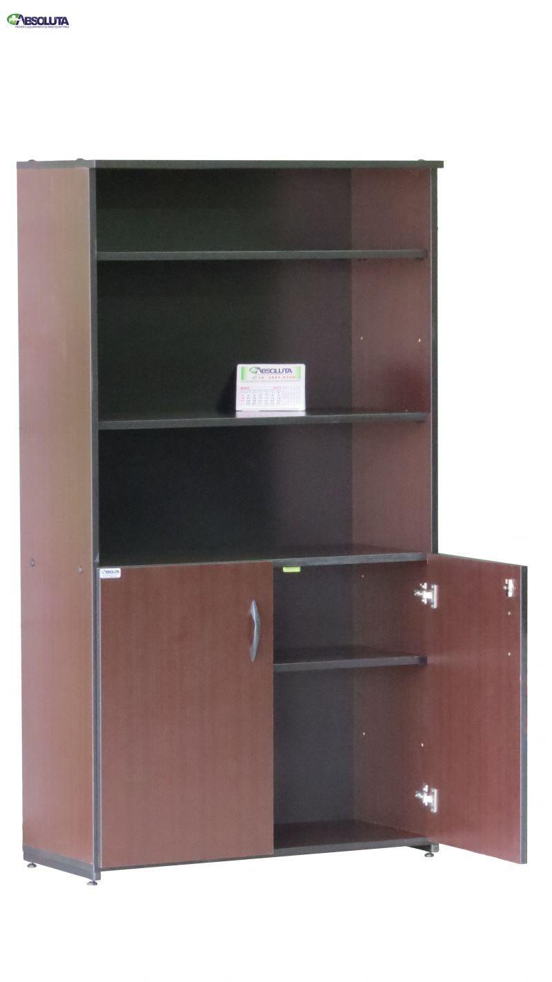 Loja Artesanato Zona Norte ~ ARMÁRIO EXECUTIVO SEMI ABERTO COR TABACO Absoluta Móveis de Escritório Móveis, Cadeiras