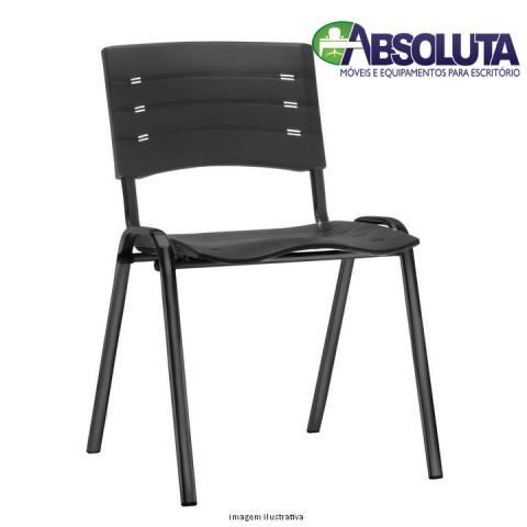 CADEIRA NEW ISO FIXA COM ASSENTO E ENCOSTO PLASTICO PRETO